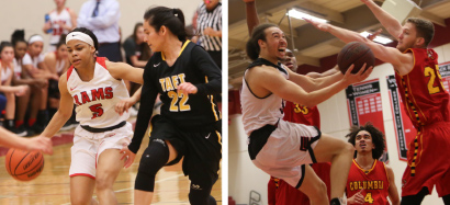 women's & men's basketball action shots