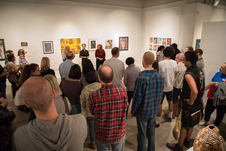 Student Art Show Opening, 2016. Photos by Mike Schwabenland