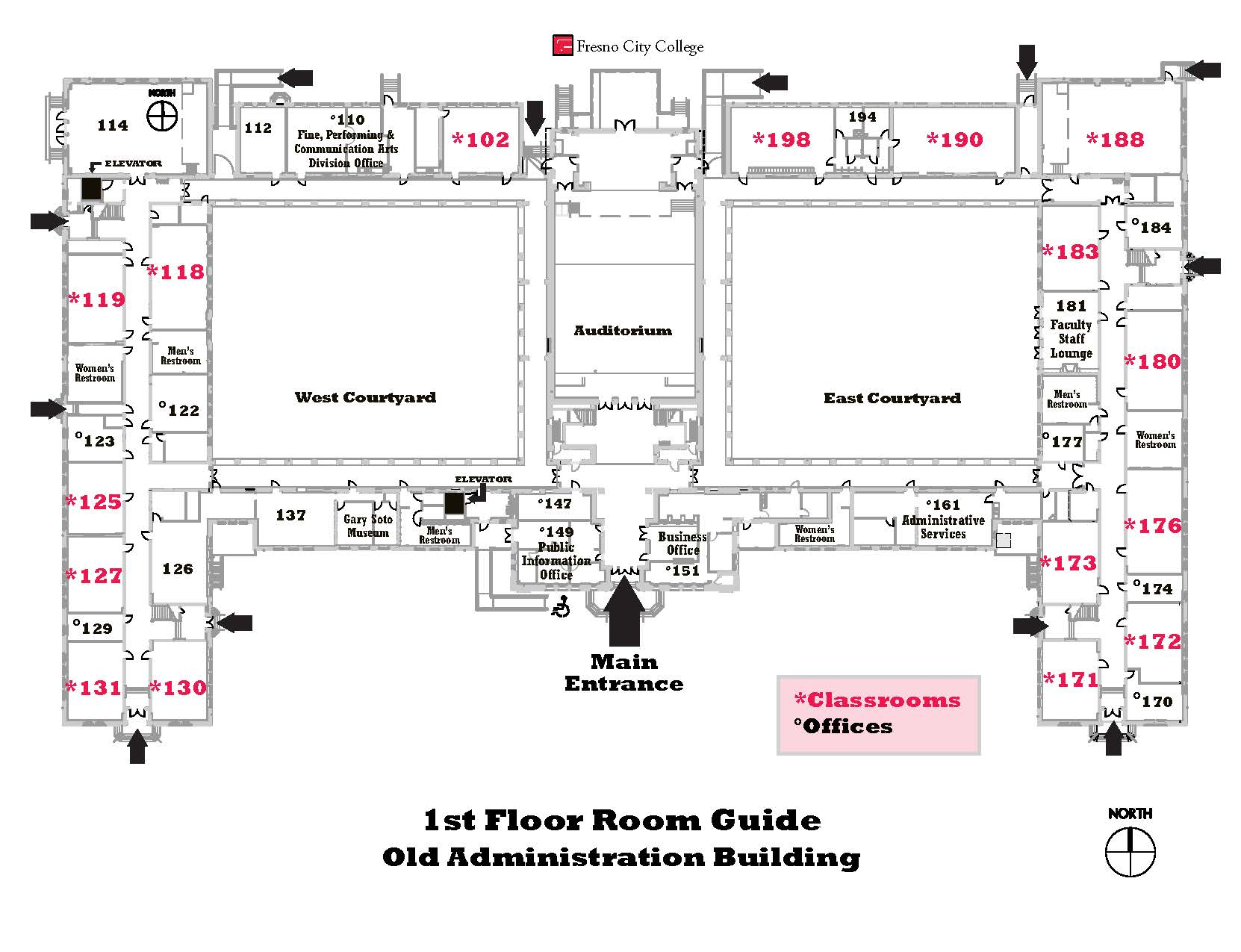 OAB first floor map
