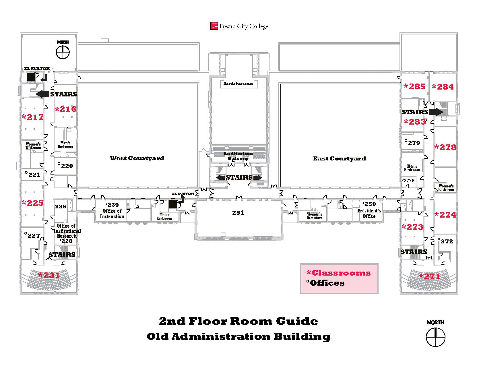OAB second floor map