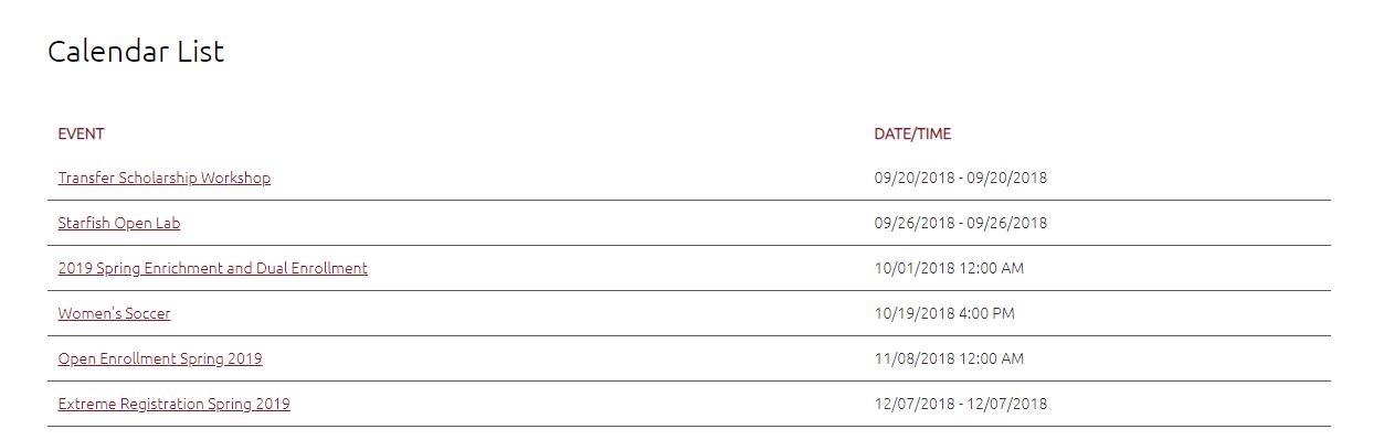 Ccny Calendar Spring 2022.Calendar List Row Fresno City College